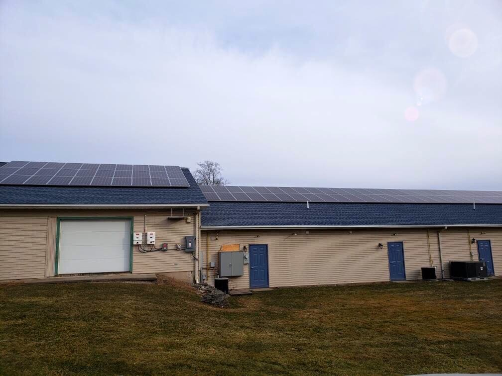 solar panels roof sustainable